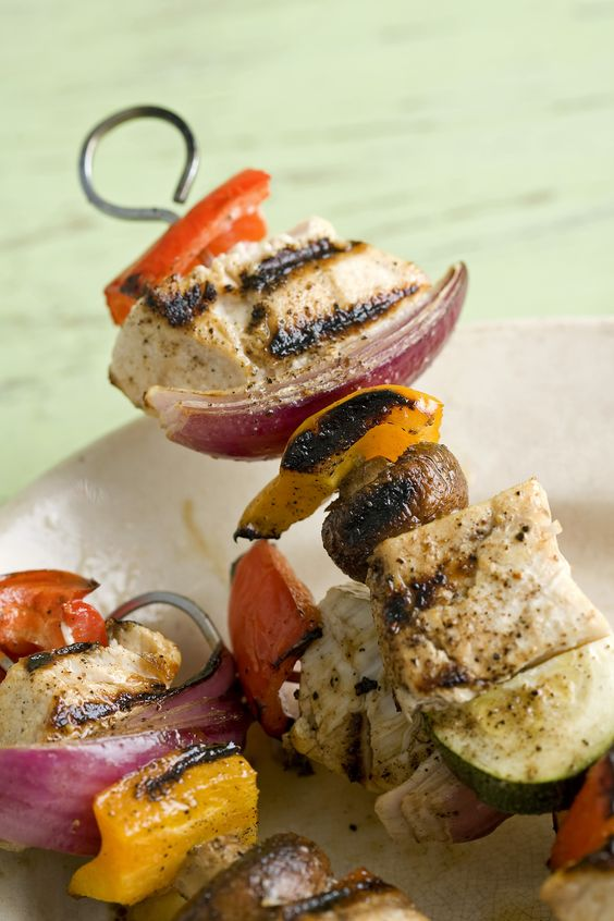 Grilled Swordfish Kebabs with Mixed Herb Pesto will be great this ...