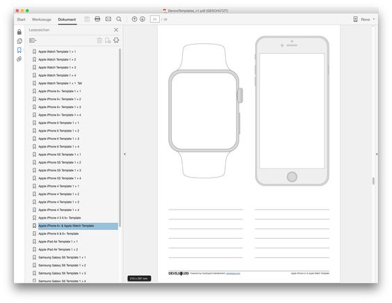 Fresh & free mockup templates for iOS devices and Android devices. This PDF document contains 35+ pages with different layouts and useful combinations of devices. with 9 top notch devices including Apple Watch and Samsung Galaxy S6 Edge.