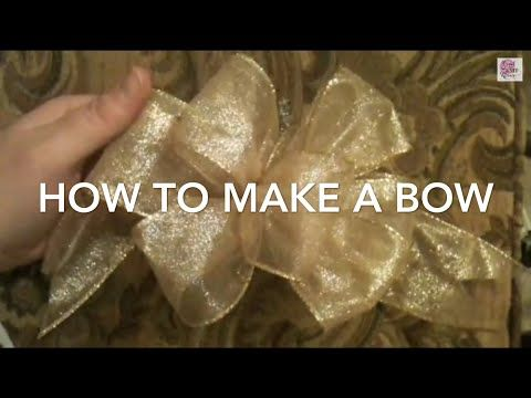 """How to make a bow"" for a Christmas tree, gifts, weddings, tree topper, wreath and garland - YouTube"