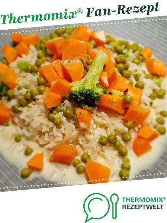 Gem Sereis In Samtiger Sauce Von Julste Ein Thermomix Rezept Aus Der Kategorie Hauptgerichte Mi In 2020 Vegetable Rice Thermomix Recipes Vegetarian Recipes Dinner