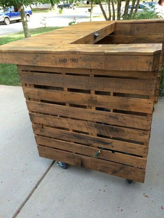 Bars Made With Wood Pallets Avec Images Meuble Jardin Palette