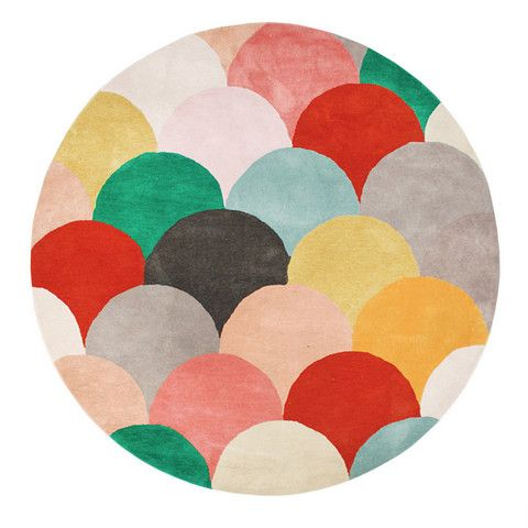 FLOOR RUG | 'miami' macaroons round by DAN300 Group | Cranmore Home FREE delivery Australia-wide