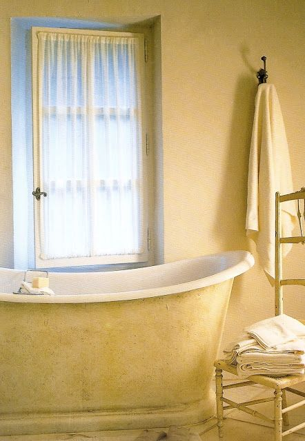Just a simple yellow bath... Décor de Provence: The art of Provence