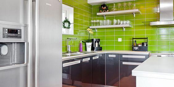 Soluzioni :: Le cucine moderne colorate: 728 366, Home, Di Finiture, Colors, Kuhinje Kitchens, Arredare Casa