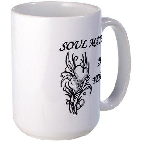 Soul Mates 25 Years Large Mug
