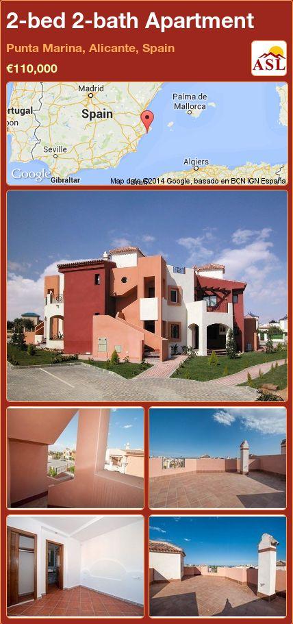 2-bed 2-bath Apartment in Punta Marina, Alicante, Spain ►€110,000 #PropertyForSaleInSpain