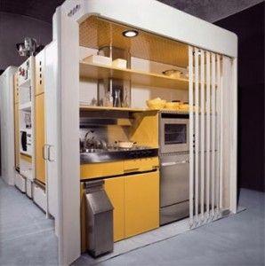 joe colombo, total furnishing unit, 1971, cellule cuisine