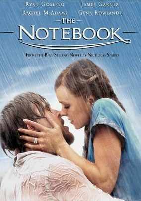 The Notebook (2004) Two young lovers (Ryan Gosling and Rachel McAdams) are torn apart by war and class differences in the 1940s in this adaptation of Nicholas Sparks's best-selling novel. Their story is told by a man (James Garner) who, years later, reads from a notebook while he visits a woman in a nursing home (Gena Rowlands). Nick Cassavetes directs this heart-tugging romance about the sacrifices people will make to hang on to their one true love.