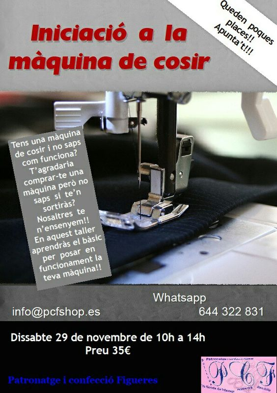 curso iniciación a la máquina de coser! #costura #figueres