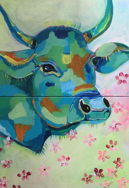 Acrylmalerei - ★ 70 x 100 ★ 2-tlg.★ELSA ★ - ein Designerstück von ClaudiaWeise bei DaWanda