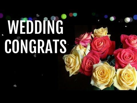 Wedding Wishes For Couples Congratulations Message For Marriage Youtube In 2020 Wedding Wishes Quotes Wedding Wishes Wedding Wishes Messages