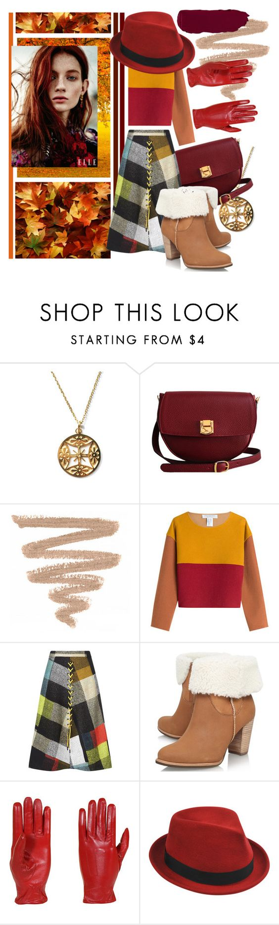 """""""the queen of autumn"""" by arta ❤ liked on Polyvore featuring Nikko, The Code, Philosophy di Lorenzo Serafini, Preen, UGG Australia, Isotoner and Stetson"""
