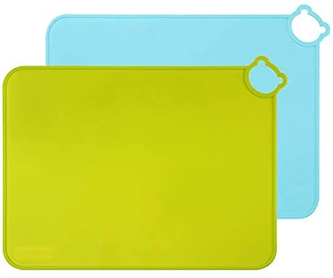 Amazon Com Me Fan Silicone Placemats For Kids Baby Toddlers Non Slip Tablemats Stain Resistant Anti Skid Reusa Portable Food Dishwasher Safe Stain Resistant