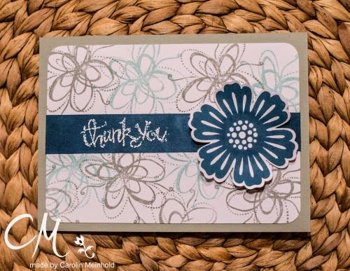 Dankeskarte: Stampin' Up!