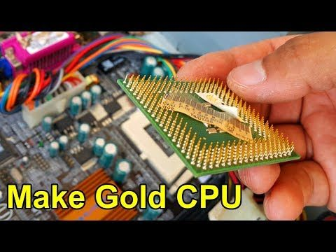 Gold Recycle From Scrap Components Electronics Connectors