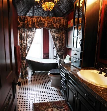 incredible black gothic bathroom ideas   Beautiful, Black heart and Tubs on Pinterest