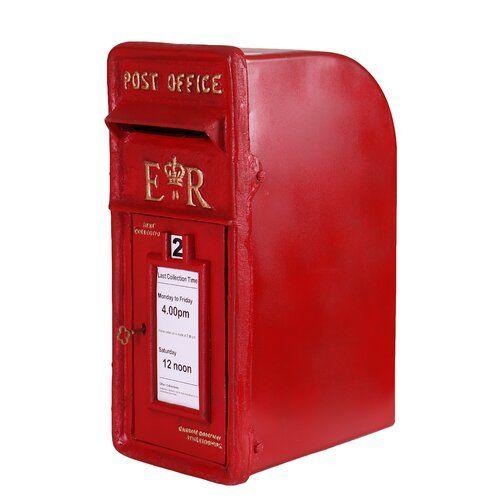 Emmett Royal Mail Pillar Box Williston Forge Post Box Locker Storage Newspaper Holder
