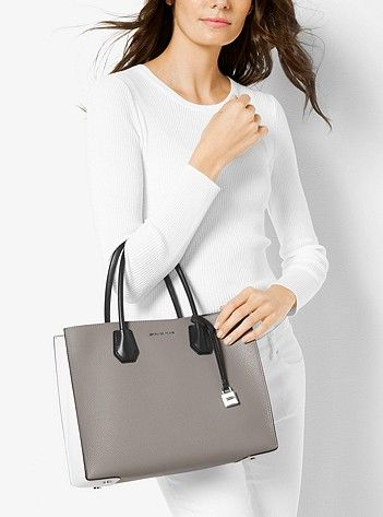 82e2411a4ff71 Mercer Large Color-Block Leather Tote