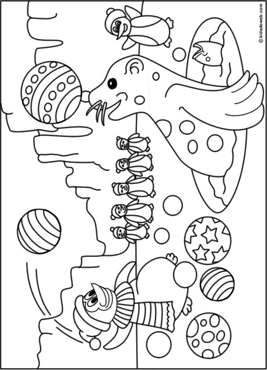 Coloriage animaux banquise - Dessin banquise ...