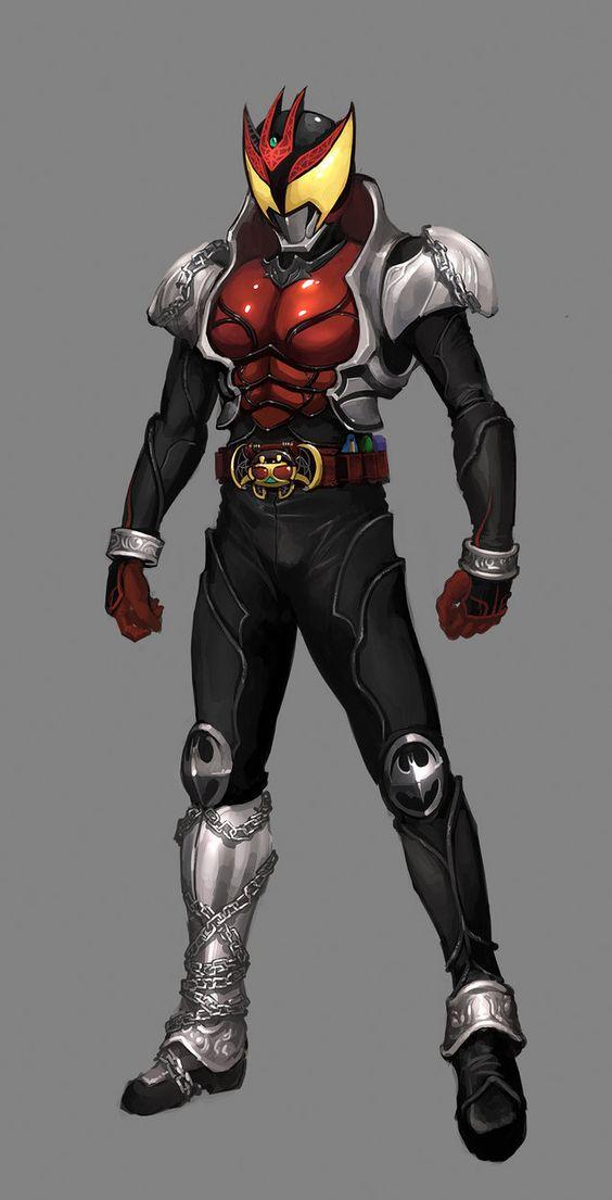 Upper Body reference for Death Metal    Rough - Kamen Rider Kiva by ~reaper78 on deviantART