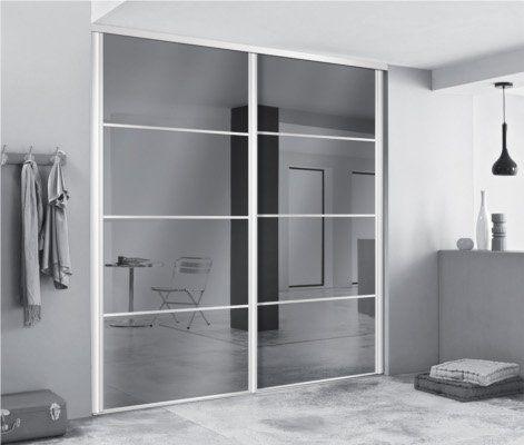 Portes de dressing avec miroirs pour agrandir l 39 espace dressing portes - Dressing avec portes ...