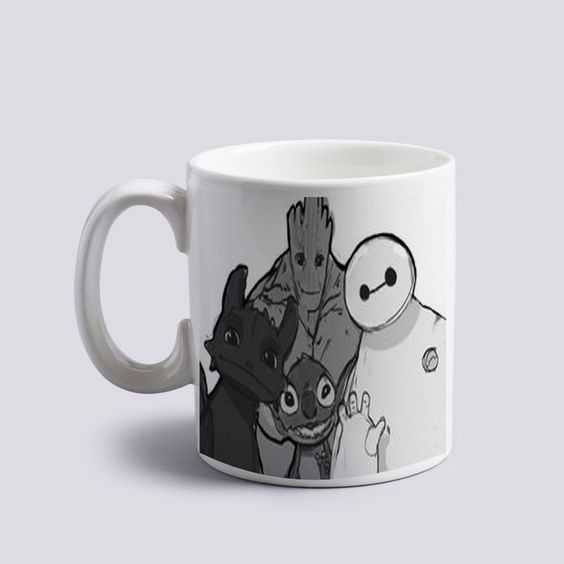 baymax groot stitch and toothless Mug 11oz Two Sides Coffee Tea Cup Home Office  #MugDesign