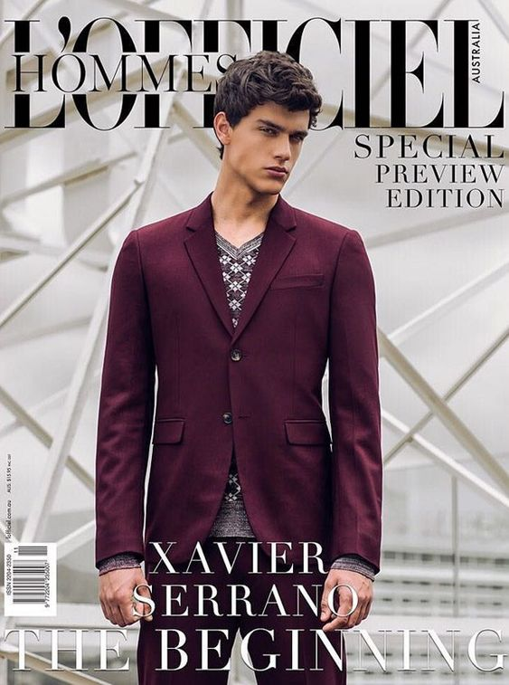 Xavier Serrano Covers L'Officiel Hommes Australia Special Preview Issue
