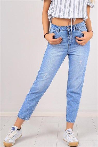 Mavi Bayan Mom Kot Pantolon 6915b Moda Stilleri Pantolon Kotlar