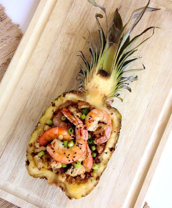 Paleo Pineapple Stir Fry by grokgrub #Shrimp #Pineapple #Cauliflower