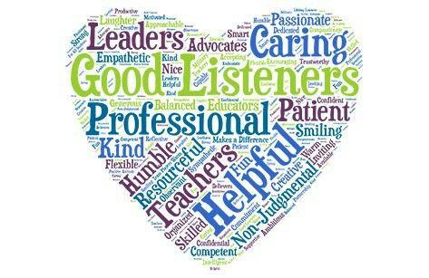 Counselor heart word cloud