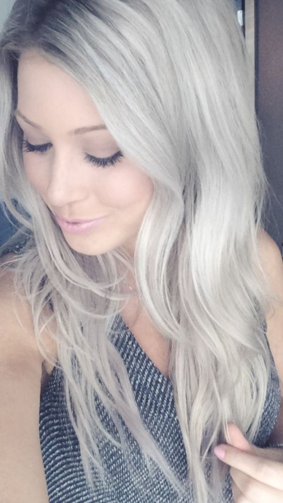 ash blonde hair hair pinterest asche silberhaar und aschblond. Black Bedroom Furniture Sets. Home Design Ideas