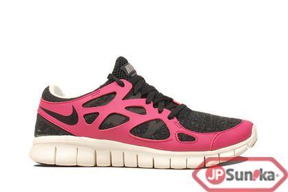 Nike Wmns Free Run+ 2 EXT  Black Fireberry  (536746-016)