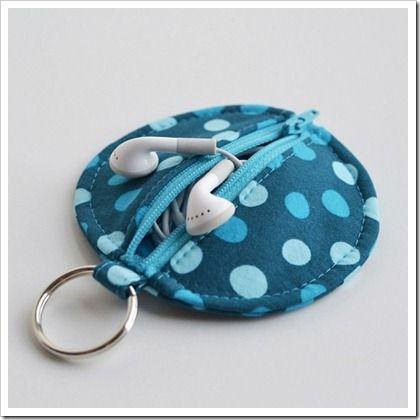 Cute ear bud pouch