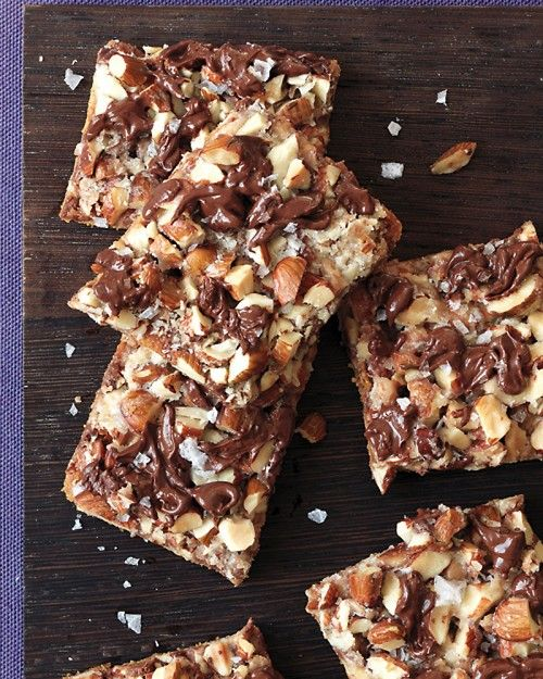 Salted Toffee-Chocolate Squares - this sweet isn't just for dessert: enjoy with coffe, tea, or as a late-night snack