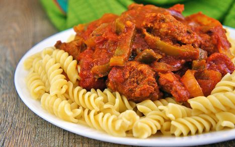 Crock Pot Italian Sausage and Peppers