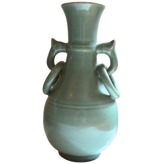 Vintage Asian Glazed Vasepot 79 Liked On Polyvore Featuring