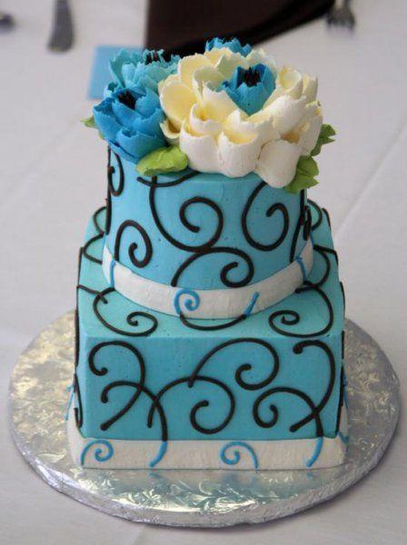 2 tier buttercream cake by The White Flower Cake Shoppe
