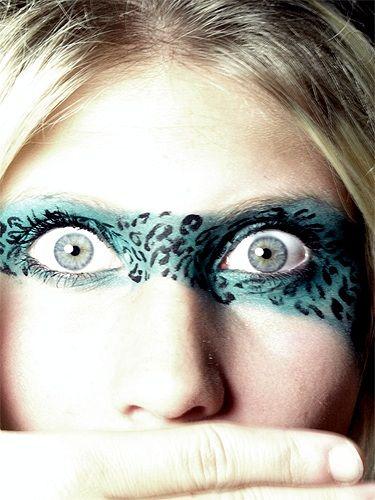 Blue Cheetah Makeup