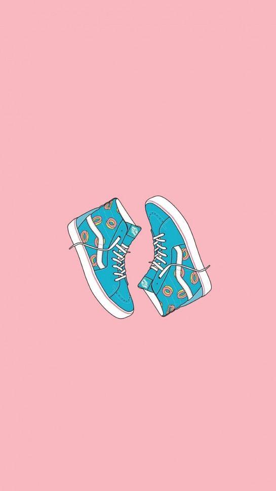 Vans Illustration Wallpaper Draw Shoes Wallpaper Iphone