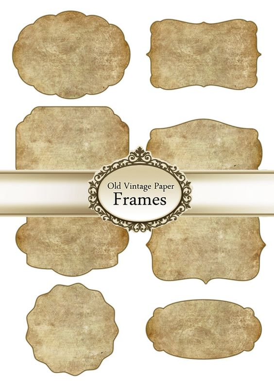 Vintage Digital Frames Printable Labels Tags by Silvercrystalscouk