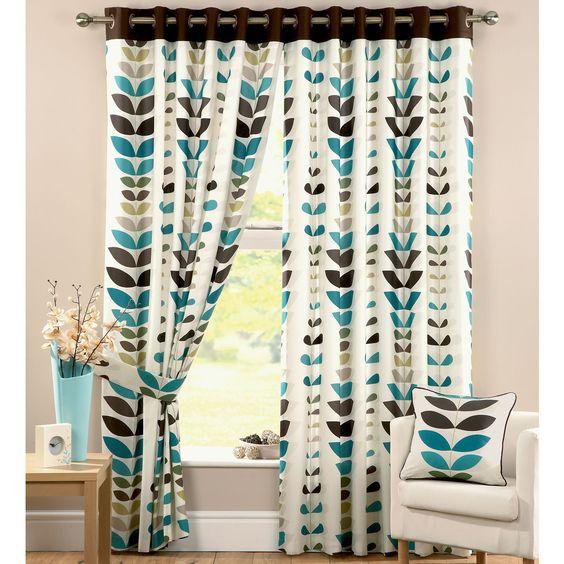 Zest Teal Curtains   kitchen ideas   Pinterest   Leaf prints, Teal ...