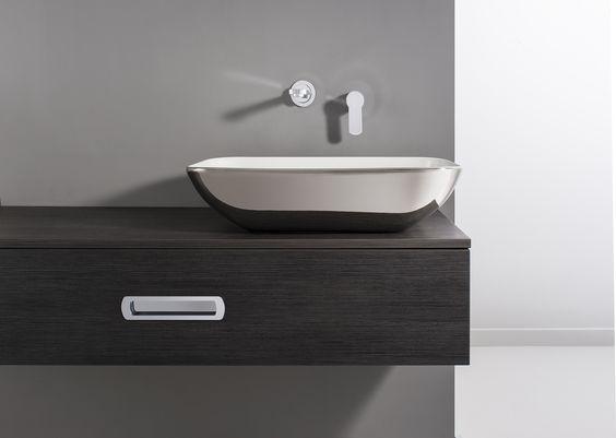 Serene Platinum Countertop Bathroom Basin from Crosswater http ...