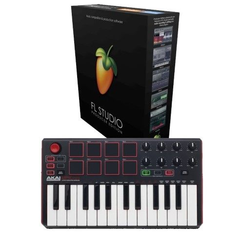 Fl Studio 20 Producer Edition With Akai Mpk Mini Mk2 For Windows Flstudio Akai Mini