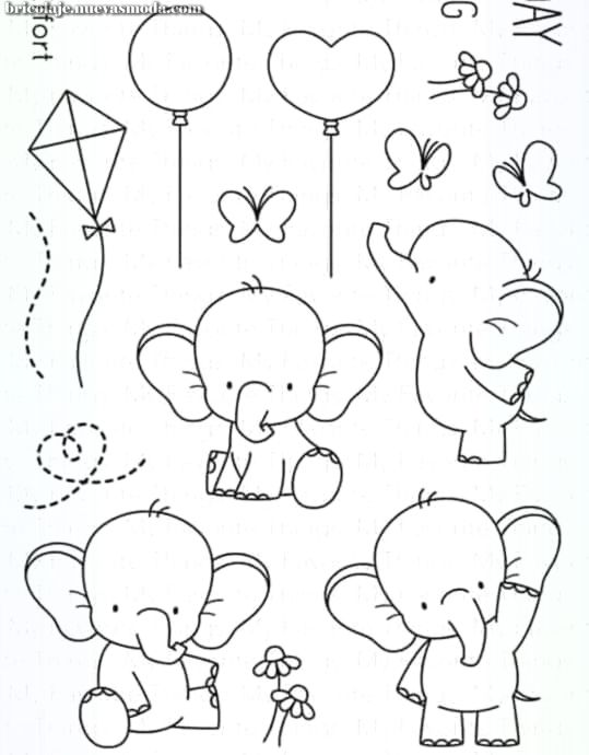 Increible Dibujos In 2020 Elephant Drawing Baby Elephant Drawing Doodle Drawings