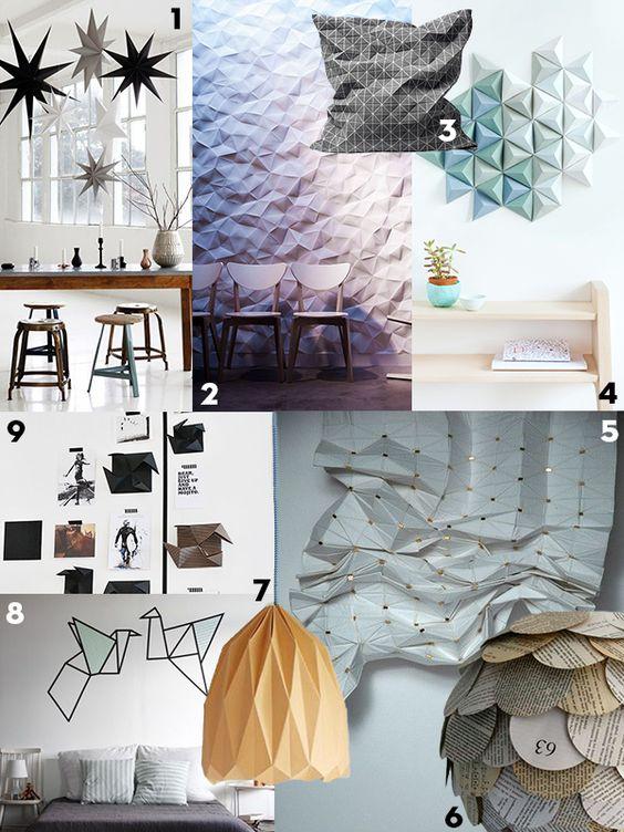 Trend Papier In Het Interieur Kartonnen Lampen En Papieren Wanddecoratie Milieuvriendelijk Origineel