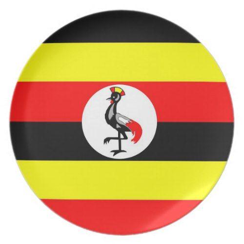 Uganda Country Flag Plate Zazzle Com Uganda Flag Flag Uganda