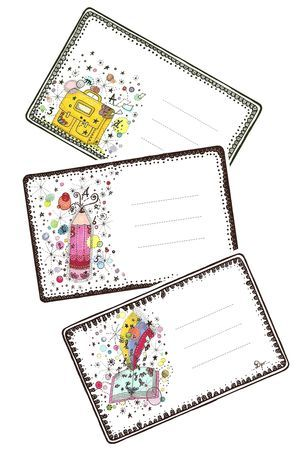 FREE printable school book tags: étiquettes cahier scolaire