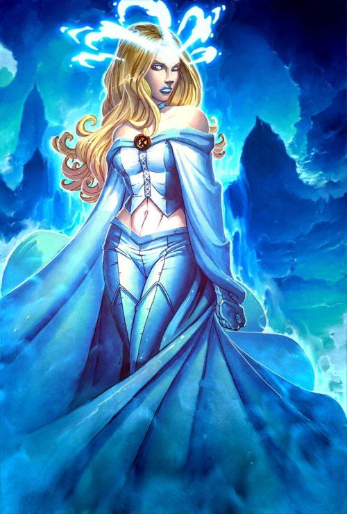 White Queen  Name - Emma Frost  Boyfriend - Scott Summers (Cyclops)  Team - X-Men & Hellfire Club