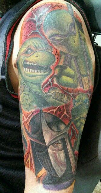 Tmnt half sleeve done by Roman Mitchell