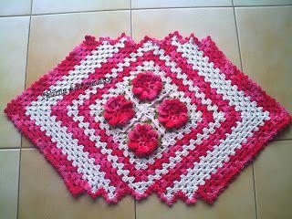 Fátima Artesanatos: tapete em crochê